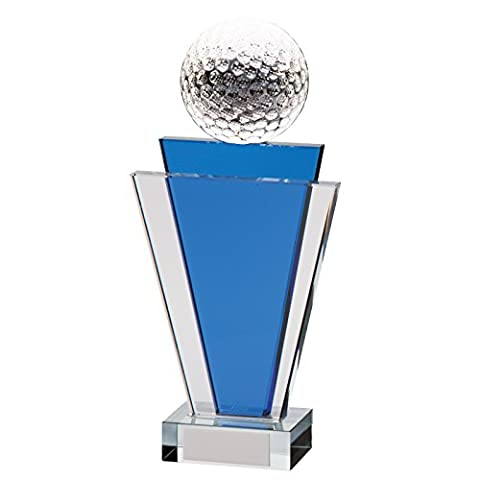 Crystal Golf Ball Gauntlet Tower Trophies 7 inch