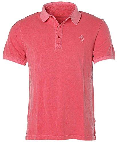 Signum Herren Kurzarm Shirt Poloshirt Polokragen Pikee Vintage Red