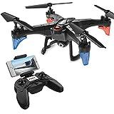 ScharkSpark Drohne mit Kamera Live Video 720P HD Abnehmbarer RC Quadcopter mit 2 Batterien 2.0MP FPV WiFi 2.4GHz 6-Achsen-Gyro Headless-Modus Höhe Halten Sie eine Taste Return-Fernbedienung Schwerkraft-Sensor Helicopter