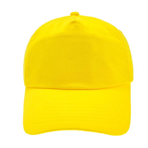 4sold Junior Original 5 Panel Cap Unisex Jungen Mädchen Mütze Baseball Cap Hut Kinder Kappe (Yellow)