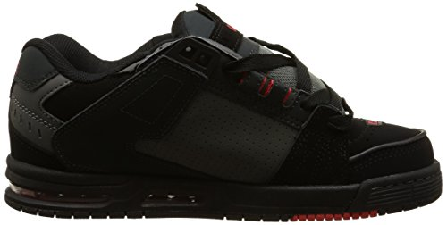 Globe Sabre Unisex-Erwachsene Sneakers Multicolore (Black/Red/Charcoal)