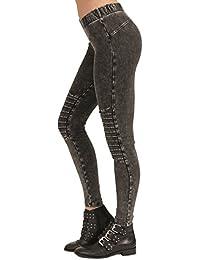f9405ac4e5 trueprodigy Casual Damen Marken Leggings Stretch Leggins Sexy Sportlich  Skinny Elegante Stretch Hose Frauen
