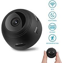 HankerMall Mini cámara espía Oculta 1080P HD Mini WiFi Nanny Cámara IP Dash Cámara de detección de Movimiento Visión Nocturna 155 Grados Cámara Oculta inalámbrica para Seguridad en el hogar