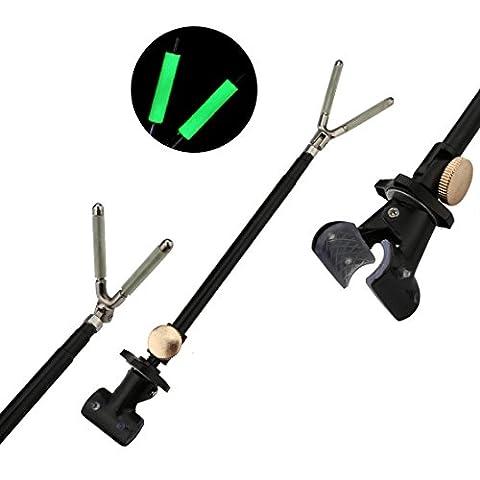 A-SZCXTOP Fishing Rod Bracket Rear Hanger Rod Luminous Non-slip 40cm