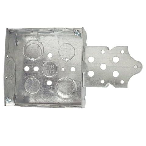 Acier City 52151-bn Pre-galvanized Boîte carrée en acier avec C-5non