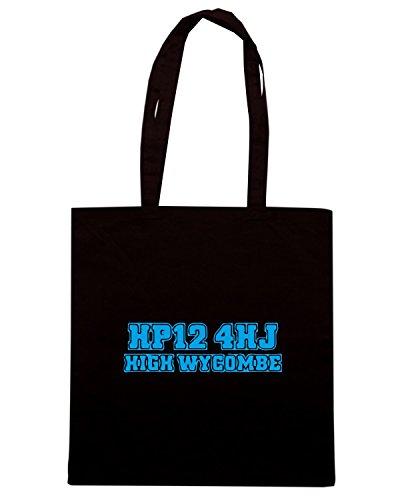 T-Shirtshock - Borsa Shopping WC1206 wycombe-wanderers-postcode-tshirt design Nero