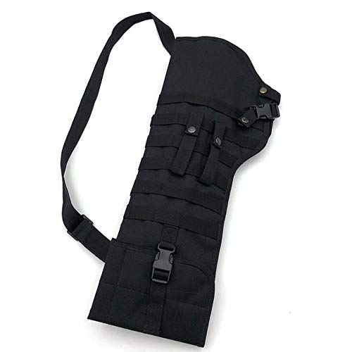 Outdoor Tactical Molle Umhängetasche Military Shoulder Sling Tragbare Gepolsterte Shotgun Holster Nylon Rucksack Jagdtasche (schwarz) -