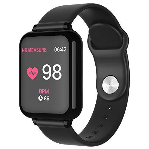 Yallylunn Pulsmesser Bluetooth Armband-Fitness Tracker Smart Uhr Sport Heutige Step + Step Nummernkarte EKG Karte Benachrichtigungsliste LäNgen Und Breitengrade Weltzeit