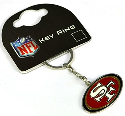 San Francisco 49ers American Football NFL Keyring Keychain Metal Logo Official