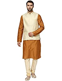 kisah Benarasi Jaquard Cotton SilkSelf DesignWaistCoat for For Men's