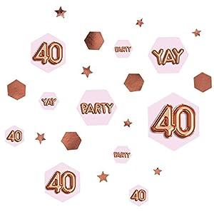 Neviti 773437Glitz y Glamour edad 40Confetti mesa Scatters, Rosa/Oro rosa