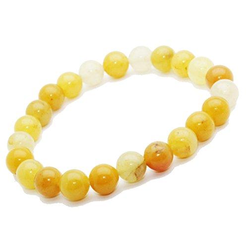 Bracelet Aventurine Jaune pierre semi précieuse perles 8 mm. Pierre du Mentale