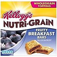 Nutri-Grain déjeuner Kellogg Bars Blueberry (6x37g) - Paquet de 2