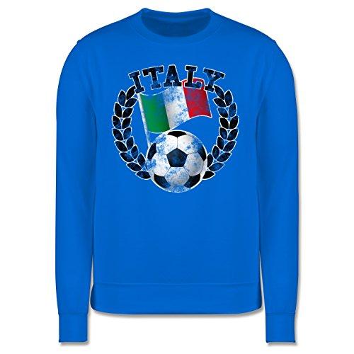 EM 2016 - Frankreich - Italy Flagge & Fußball Vintage - Herren Premium Pullover Himmelblau