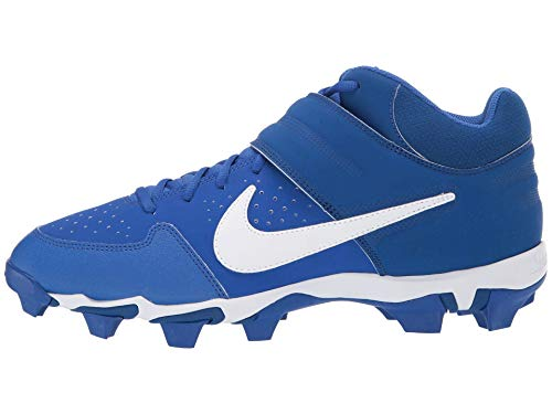 Nike Kinder Alpha Huarache Varsity Mid Keystone Fußballschuh, Blau (Game Royal/White/Gym Blue), 32 M EU Kleines kind