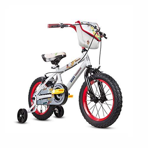 Ppy778 Kinderfahrrad Junge Fahrrad 12/14/16 Zoll Kinderwagen Teen Mountainbike Color : White , Size : 12INCH(92CM*20CM*54CM)