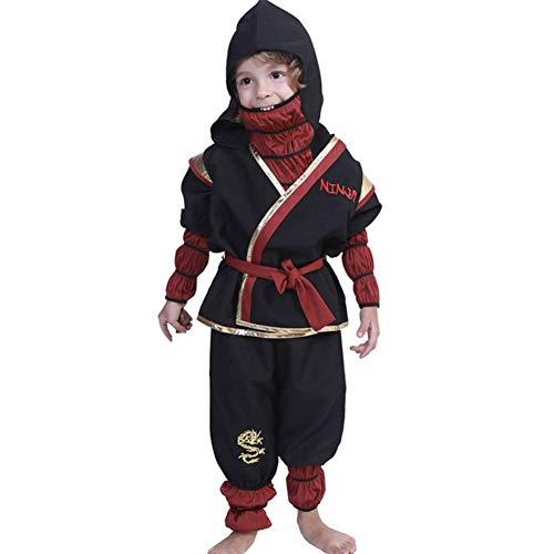 GUAN Halloween Kostüm Ninja Kinder Performance Set - Ninja Männliche Kostüm