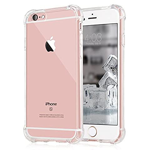 Coque iPhone 6/6s, [Coussin d'air] [4 Coins Shock-Absorption] Pare-chocs Anti-rayures Soft TPU Etui de Protection pour Apple iPhone 6/6s 4.7 Pouces 2015-Clair
