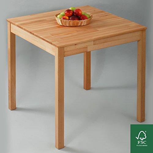 Esstisch Massivholz Buche 100% FSC Tomas Esszimmertisch Massivholz Tisch (75 x 75 x 75 cm)