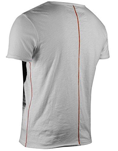 trueprodigy Casual Herren Marken T-Shirt mit Aufdruck, Oberteil cool und stylisch mit Rundhals (kurzarm & Slim Fit), Shirt für Männer bedruckt Farbe: Off White 1053101-8005 Offwhite