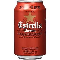 Estrella Damm Cerveza - Paquete de 24 x 330 ml