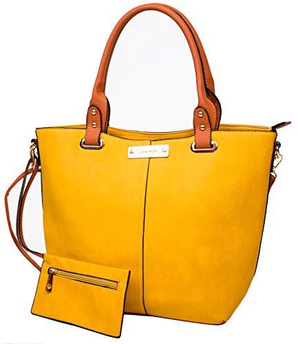 Bolso Piel amarillo para Mujer