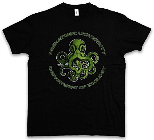 Urban Backwoods Miskatonic University Department Of Zoology T-Shirt - Taglie S - 5XL Nero