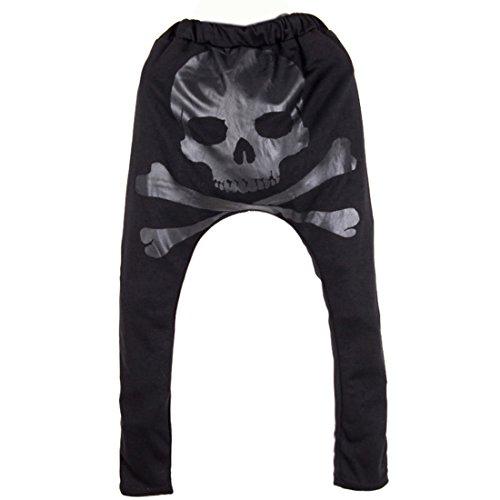 Partiss Herren Hose mit Skull Haremshose Harem Pant, (Halloween Männer Kostüme Plus Size)