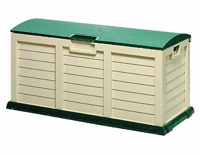 Kissenbox 'Jumbo XXL' , Aufbewahrungsbox für Gartenauflagen, grün/beige von mkl-versand.de auf Du und dein Garten