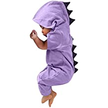 Monos bebé, ❤ Modaworld Recién Nacido bebé niño niña Dinosaurio Sudadera con Capucha Mameluco