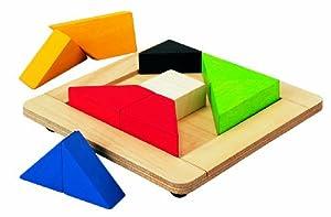 Plan Toys PT5143 - Puzzle de Formas geométricas (Madera)