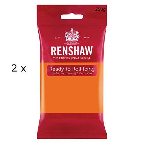 500g Renshaw Ready Roll Icing Fondant Cake Regalice Sugarpaste TIGER ORANGE