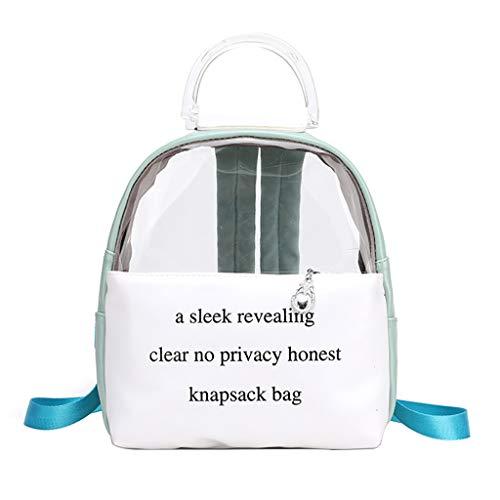 Mitlfuny handbemalte Ledertasche, Schultertasche, Geschenk, Handgefertigte Tasche,Frauen Reißverschluss vielseitig transparent kleinen Rucksack Student Bag Rucksack