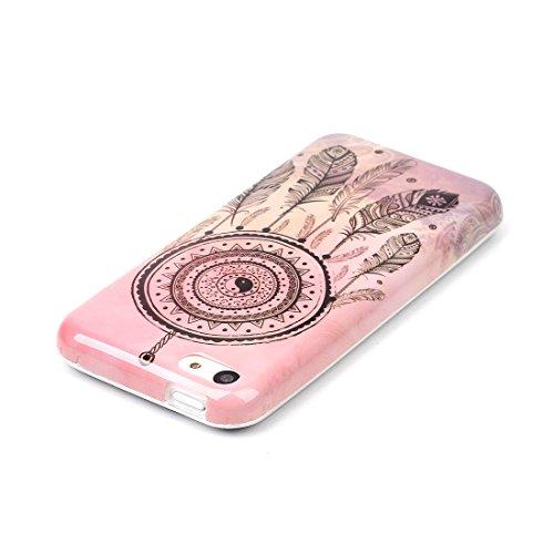 Voguecase® Per Apple iPhone 5 5G 5S, Custodia Silicone Morbido Flessibile TPU Custodia Case Cover Protettivo Skin Caso (Pinguino con palloncini) Con Stilo Penna Piuma Campanula 06