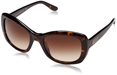 Ralph Lauren Damen Wayfarer Sonnenbrille Rl 8132, Gr. One Size, Mehrfarbig (Dark Havana, Brown Grad)
