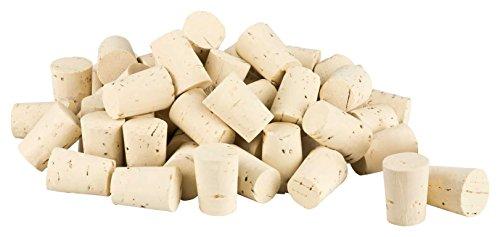 Kork-Deko 100 Bouchons en liège (Bouchons pour Tubes à essai, Conique) Longueur = 22 mm, ⌀ = 13-16 mm (22x16/13)