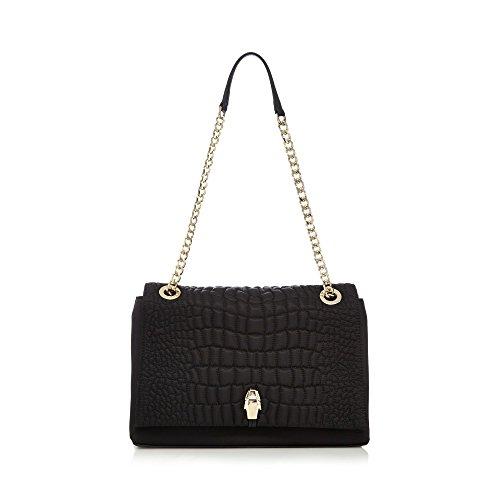 cavalli-class-womens-black-croc-quilted-shoulder-bag