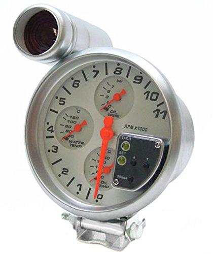 Carparts-Online 10494 Drehzahlmesser ÖL Druck Temperatur Multifunktion Shift Light 5 Zoll -
