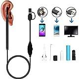 3-En-1 USB Android Tipo-C Limpieza del Oído Endoscopio HD Visual Ear Cuchara Multifuncional Earpick con Mini Cámara Herramienta De Limpieza del Cuidado De La Salud del Oído