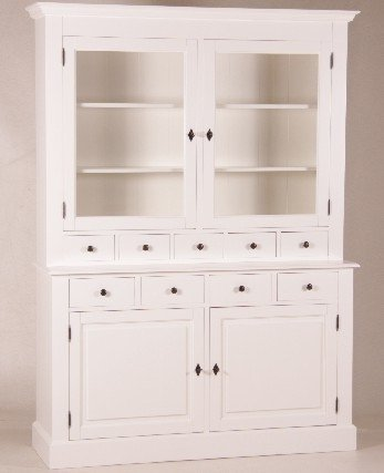 Casa-Padrino Shabby Chic Country Style Buffet Cabinet Cabinet White W 155 x H 208 cm - Dining Room Cabinet