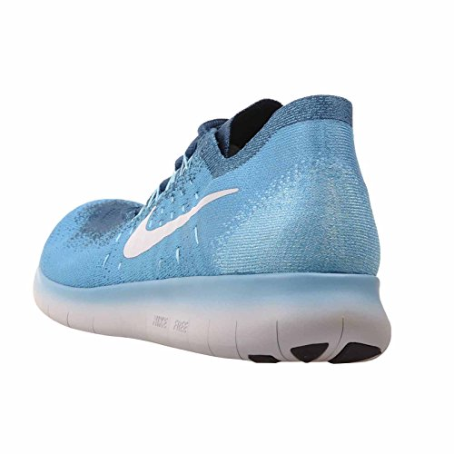 Nike Free Run Flyknit 2017, Scarpe Running Uomo Blue Lagoon/Pure Platinum-legend Blue