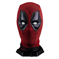 nihiug Dead wig set mask deadpool halloween helmet show props,Red-OneSize