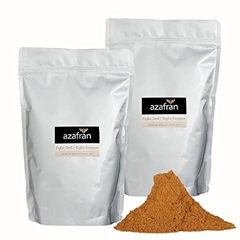 BIO-Ceylon Zimt gemahlen – Zimtpulver 1kg von Azafran® (Honig Zimtpulver)