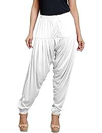 Goodtry Women's patiyala Free Size-White