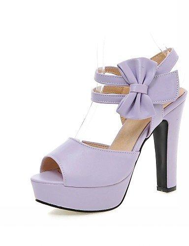 UWSZZ IL Sandali eleganti comfort Scarpe Donna-Sandali-Matrimonio / Ufficio e lavoro / Serata e festa-Spuntate-A stiletto-Finta pelle-Nero / Rosa / Viola / Beige Purple