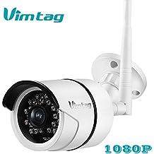 Vimtag® 1080P Wi-Fi HD esterno senza fili di sicurezza IP Bullet telecamera Weatherproof, monitoraggio video, giorno notte IR-CUT, rilevamento di movimento Spinga avvisi, istantaneo di collegamento/Registrazione Video, in tempo reale delle notifiche Push App (B1-S)