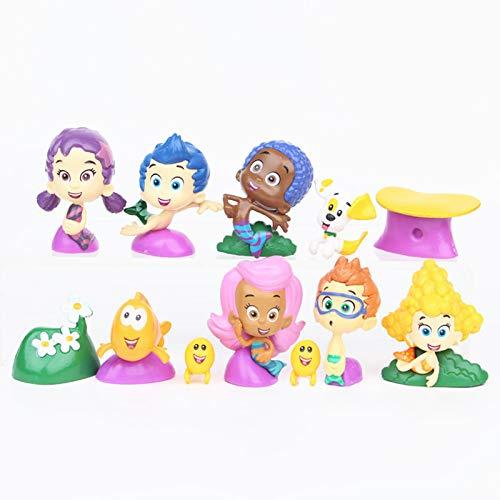 / Satz Bubble Guppies Nette Blase Welpen Grundel Deema Gil Oona Unterwasser Landschaft PVC Action Figure Spielzeug Childs Geschenk ()