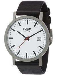 Boccia Herren-Armbanduhr Leder 3538-01