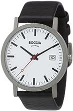 Boccia Montre Homme Analogique Quartz avec Bracelet en Cuir – 3538-01