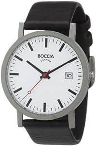 Boccia Men's Analogue Quartz Watch with Leather Strap – B3538-01